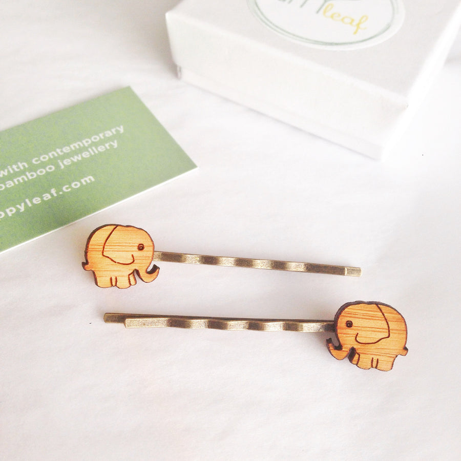Elephant hair pins - jewellery - eco friendly - sustainable jewelry - jewelry - One Happy Leaf