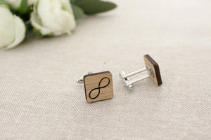 Eternity cufflinks - jewellery - eco friendly - sustainable jewelry - jewelry - One Happy Leaf