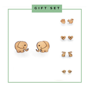 Gift Set / 5 pairs of animal earrings