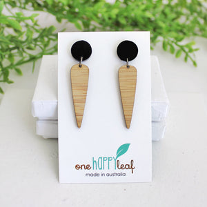 Simple, black and bamboo earrings
