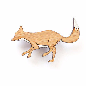 Fox brooch - jewellery - eco friendly - sustainable jewelry - jewelry - One Happy Leaf