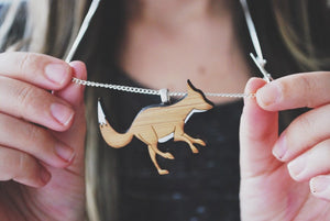 Silver fox necklace - jewellery - eco friendly - sustainable jewelry - jewelry - One Happy Leaf