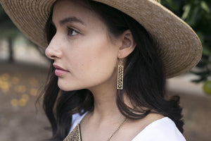 Rectangle dangle earring for $35 - jewellery - eco friendly - sustainable jewelry - jewelry - One Happy Leaf