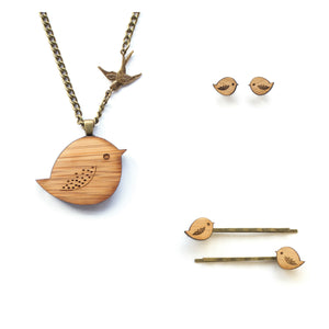 Gift Set :: 3 piece bird jewellery - jewellery - eco friendly - sustainable jewelry - jewelry - One Happy Leaf