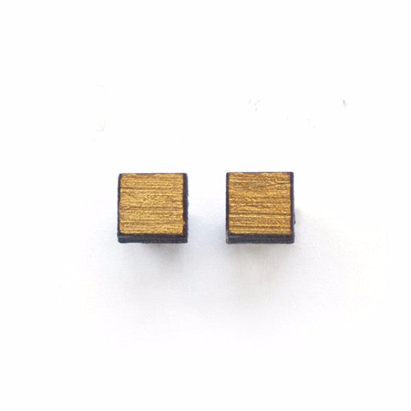 Hand Painted Square Earring