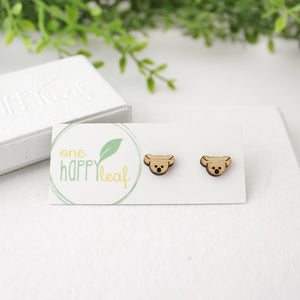 Koala stud earrings