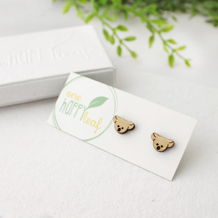 Koala stud earrings - 100% profits to WIRES - Emergency Fund for Wildlife