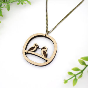 Kookaburra necklace, sustainable jewellery australia