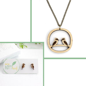 Gift Set / Kookaburra earrings and necklace