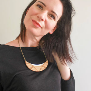 Lunar necklace - jewellery - eco friendly - sustainable jewelry - jewelry - One Happy Leaf