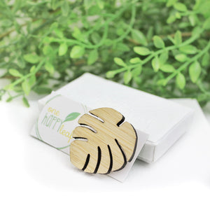 Leaf brooch, monstera jewellery australia
