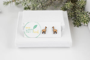 llama earrings, llama stud earrings, llama gifts