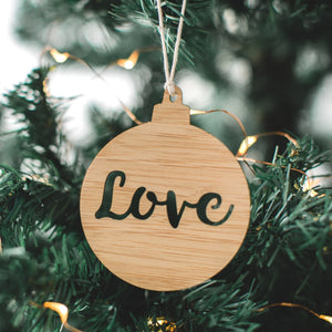 Love christmas ornament australia