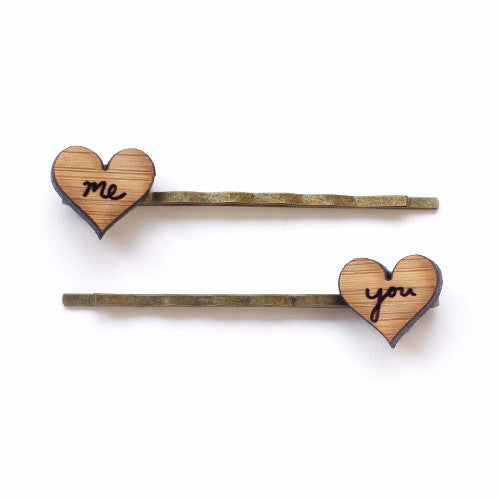You + Me hair pins - jewellery - eco friendly - sustainable jewelry - jewelry - One Happy Leaf