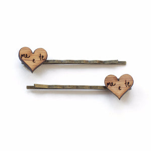 Me + te hair pins - jewellery - eco friendly - sustainable jewelry - jewelry - One Happy Leaf