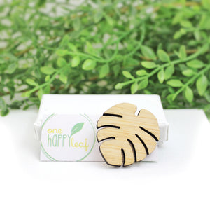 Monstera brooch, leaf brooch, sustainable jewellery, sustainable australian eco jewellery