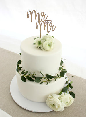 Mr and Mr Cake Topper - jewellery - eco friendly - sustainable jewelry - jewelry - One Happy Leaf