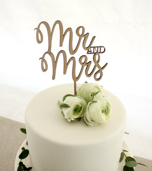 Mr and Mrs Cake Topper - jewellery - eco friendly - sustainable jewelry - jewelry - One Happy Leaf
