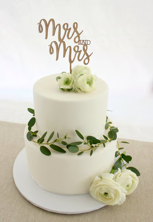 Mrs and Mrs Cake Topper - jewellery - eco friendly - sustainable jewelry - jewelry - One Happy Leaf