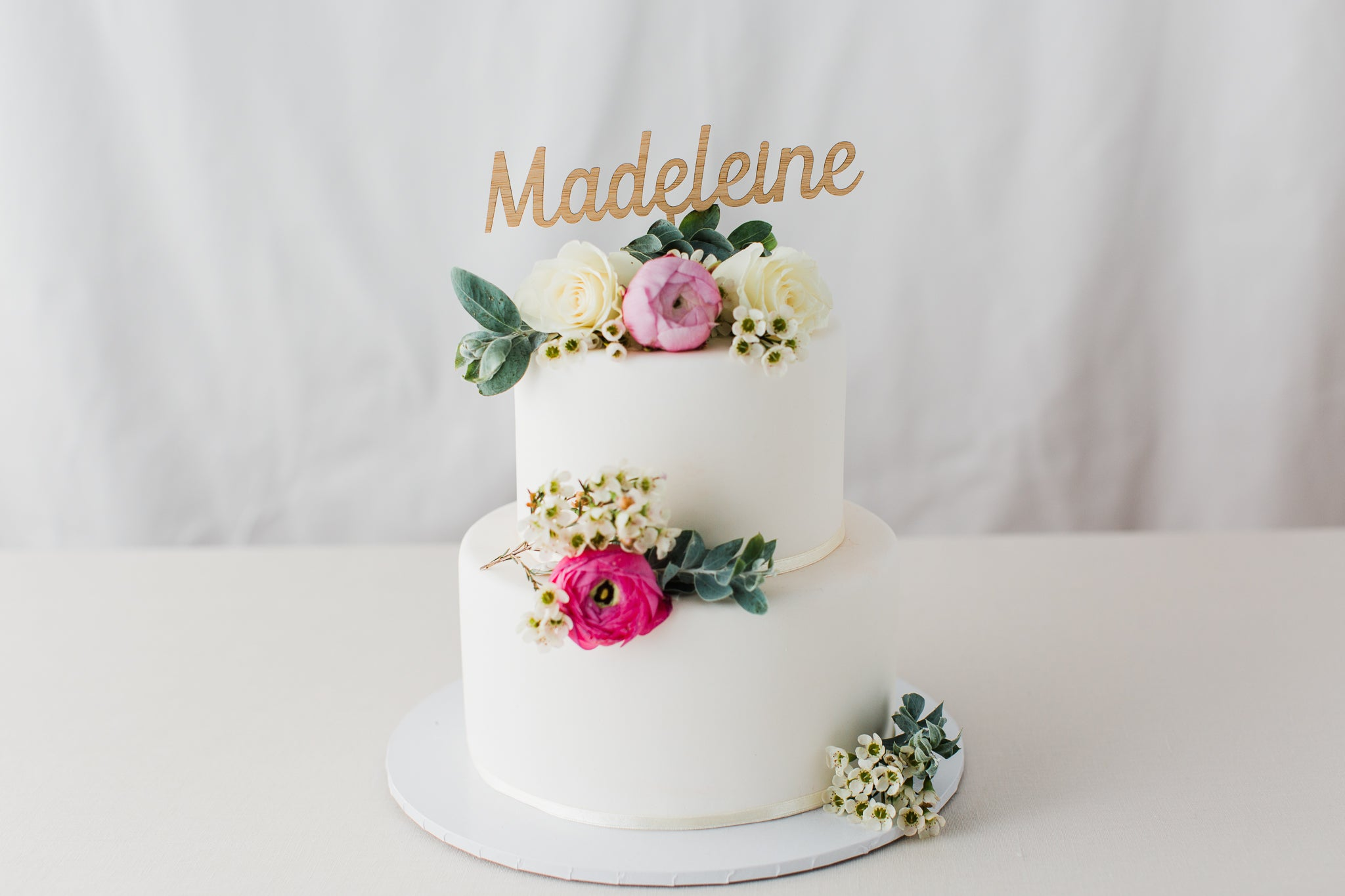 Personalised Name Cake Topper One Happy Leaf