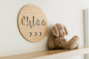 Name plaque for child