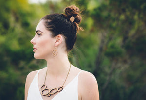 Statement hair pin - jewellery - eco friendly - sustainable jewelry - jewelry - One Happy Leaf