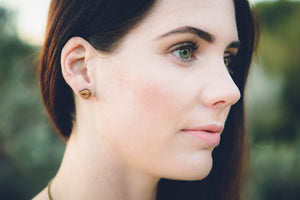 Chubby bird stud earrings - jewellery - eco friendly - sustainable jewelry - jewelry - One Happy Leaf