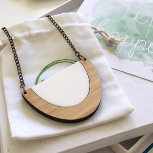 One Happy Leaf eco necklace
