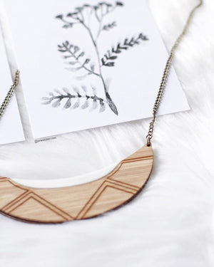 Australian wooden eco necklace