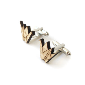 Origami crane cufflinks - jewellery - eco friendly - sustainable jewelry - jewelry - One Happy Leaf