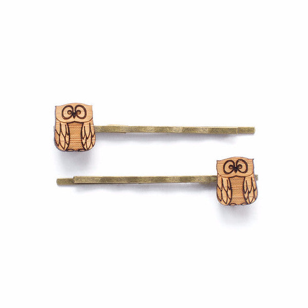 Owl hair pins - jewellery - eco friendly - sustainable jewelry - jewelry - One Happy Leaf