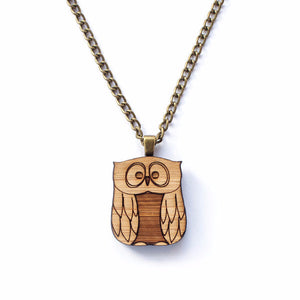 Owl necklace - jewellery - eco friendly - sustainable jewelry - jewelry - One Happy Leaf