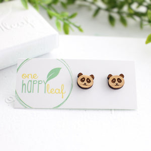 Panda earrings, panda jewellery