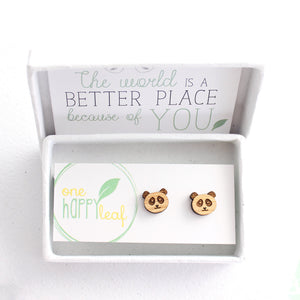 Panda earrings, panda studs
