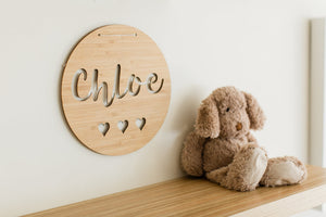 Name plaque for child wall decor