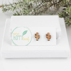 Cactus earrings, cactus themed gifts, cactus jewellery