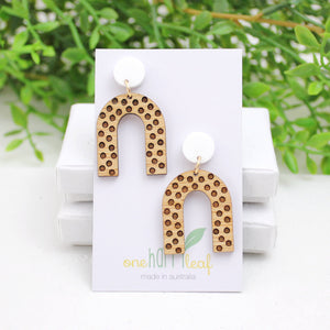 Polka dot dangle earrings