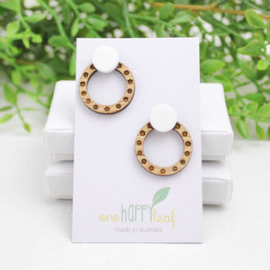 Polka dot stud earrings
