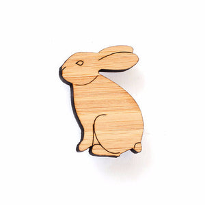 Rabbit brooch - jewellery - eco friendly - sustainable jewelry - jewelry - One Happy Leaf