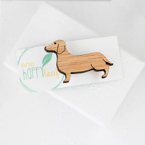 Sausage dog brooch, dachshund brooch