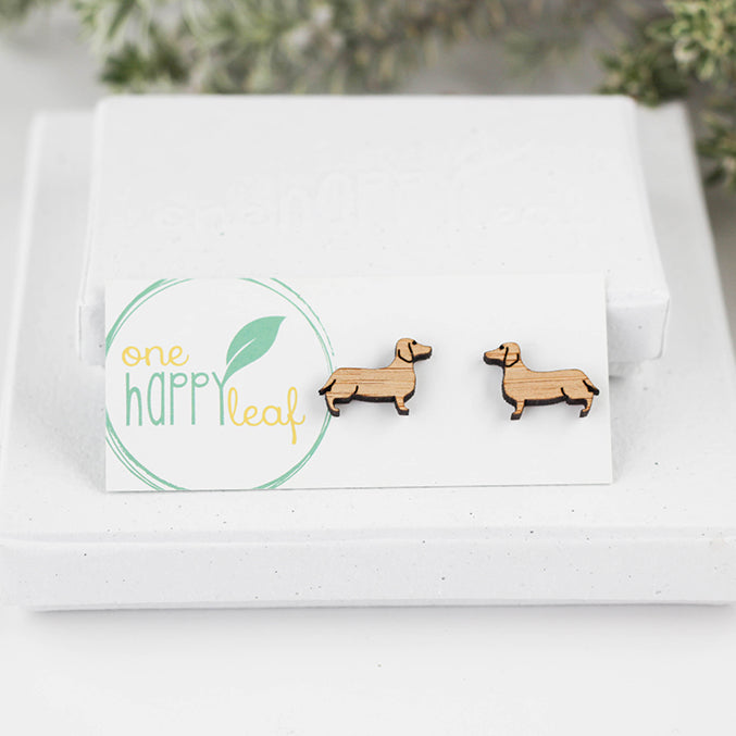 Sausage dog (doxie) earrings