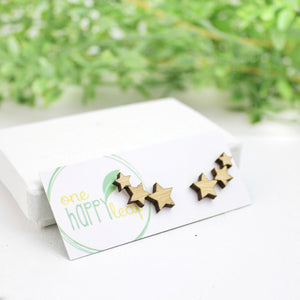 Multi Star earrings, star studs, cute star earrings, australia made eco jewellery