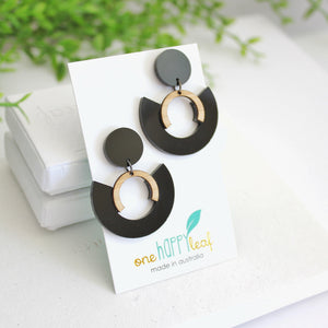 Statement earrings, eco
