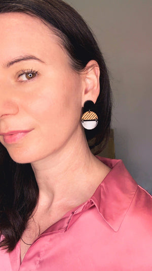 Statement eco earrings