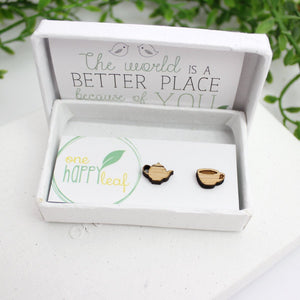 Mismatched tea studs