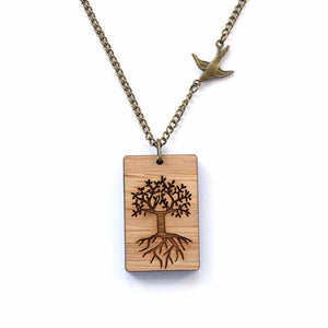 Tree of life necklace - jewellery - eco friendly - sustainable jewelry - jewelry - One Happy Leaf