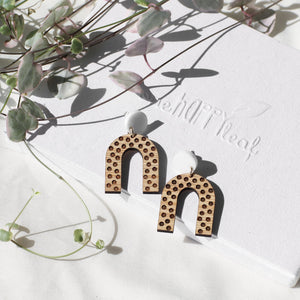 U shaped statement earrings