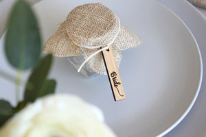 Rectangle customised wedding favour tags (set of 10) - jewellery - eco friendly - sustainable jewelry - jewelry - One Happy Leaf