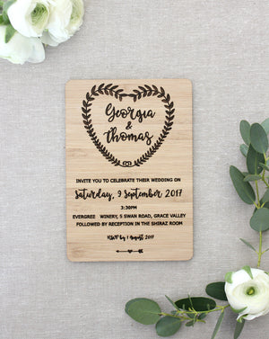Wedding invites (vine) - jewellery - eco friendly - sustainable jewelry - jewelry - One Happy Leaf