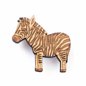 Zebra brooch - jewellery - eco friendly - sustainable jewelry - jewelry - One Happy Leaf